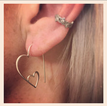 Sterling Silver Heart Shaped Ear Wires