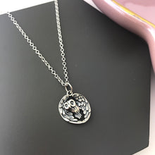 sterling silver owl bird necklace