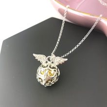 Sterling Silver Angel Caller with Wings Necklace