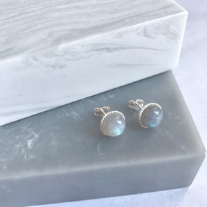 Sterling Silver Labradorite Stud Earrings