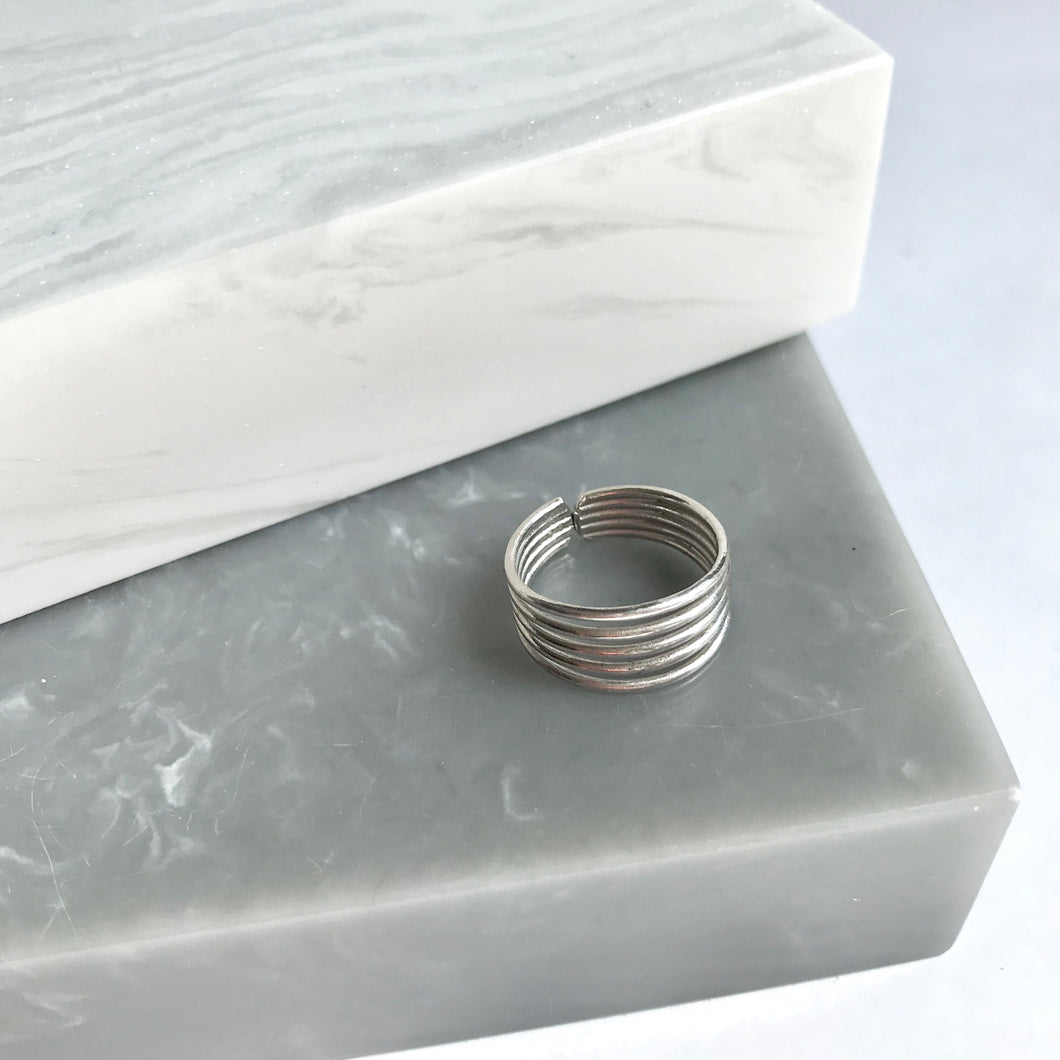 SALE!! Sterling Silver 5 Band Midi/Pinky Ring