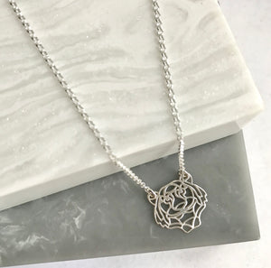 Sterling Silver Geometric Tiger Necklace