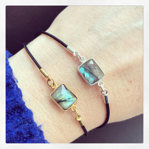 Sterling Silver/Gold Plated Labradorite Friendship Bracelet