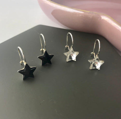 Sterling Silver Hanging Star Earrings