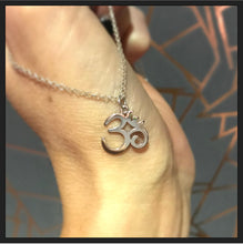 Sterling Silver Large Om Necklace