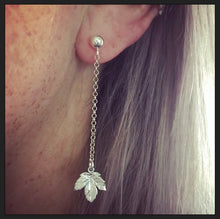 Sterling Silver Autumn Leaf Earrings