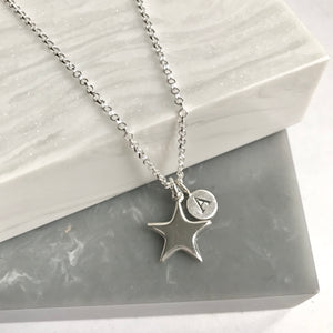 Sterling Silver Personalised Star Necklace