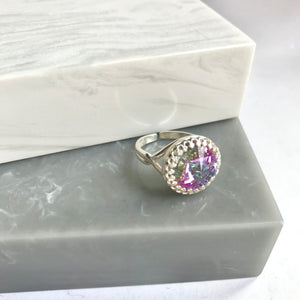 Sterling Silver Swarovski Elements Sparkler Pastel Mix