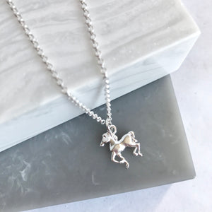 SALE!! Sterling Silver Horse Charm Necklace