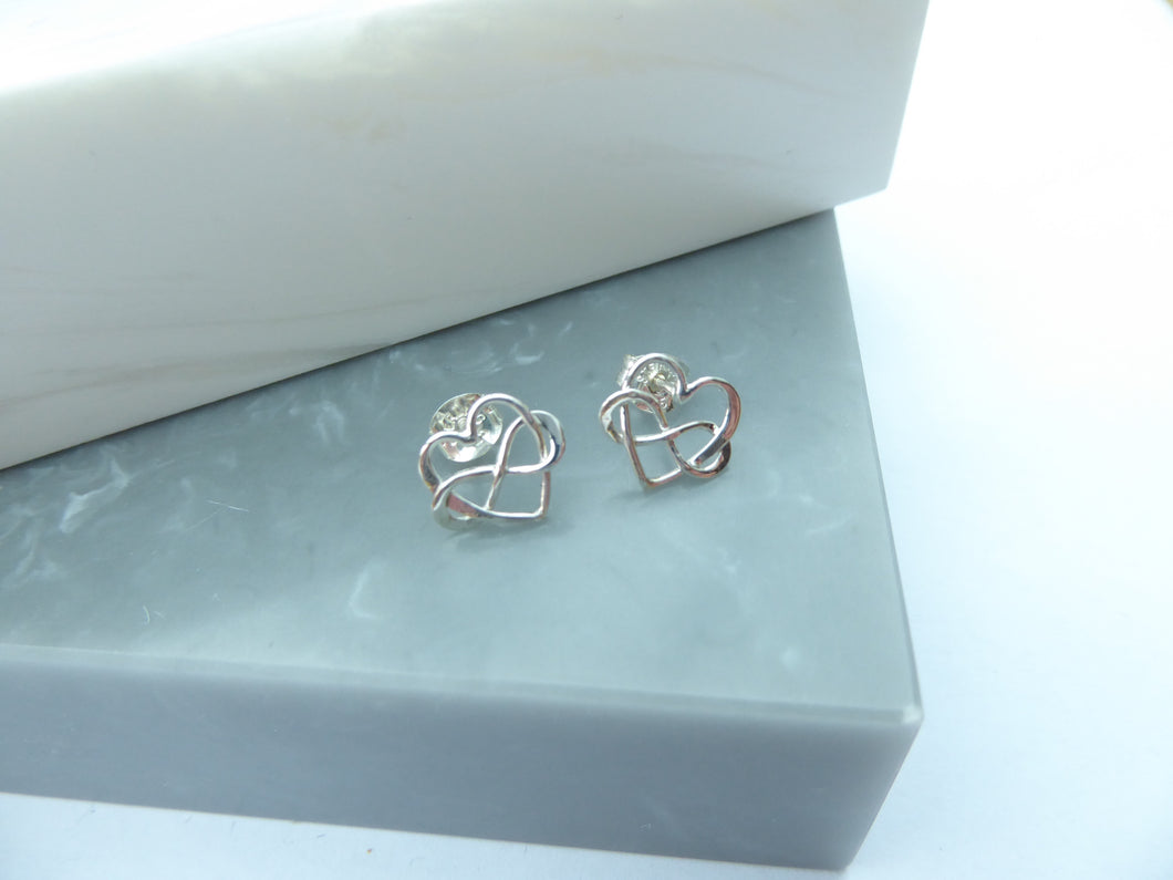 Sterling Silver Infinite Love Stud Earrings