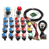 Arcade LED 2 Player USB Bundle Kit  2 Joysticks & 20 Push Buttons - Flatout Arcades