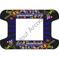 Blue Retro Multi-Cade Cocktail Table Artwork - Flatout Arcades