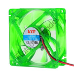 Green 80MM LED PC Cooling Fan - Flatout Arcades