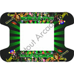 Green Retro Multi-Cade Cocktail Table Artwork - Flatout Arcades
