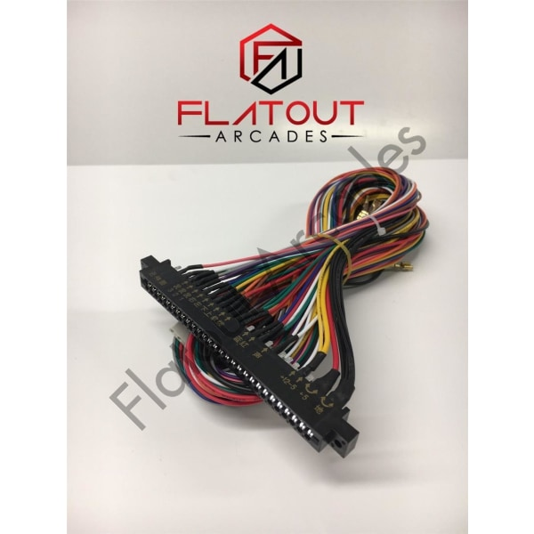 JAMMA 6 Button Harness - Flatout Arcades