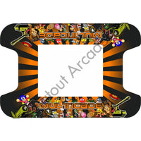 Orange Retro Multi-Cade Cocktail Table Artwork - Flatout Arcades