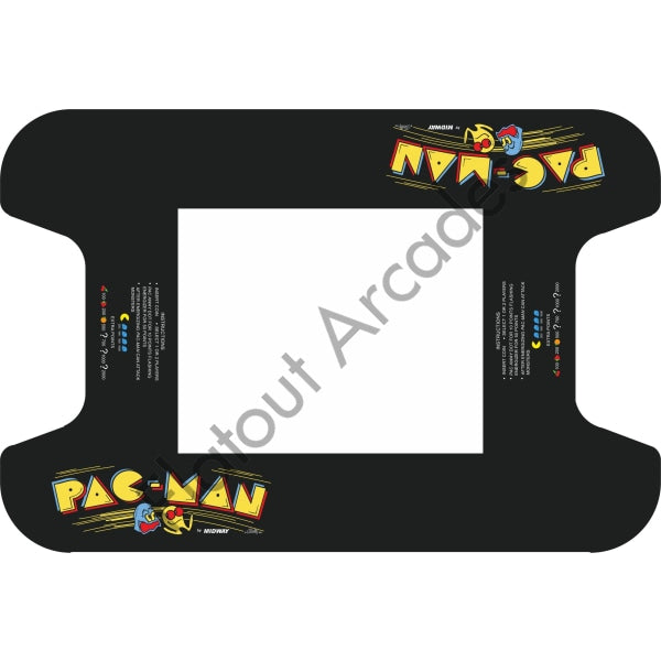 Original Pac-Man Cocktail Table Artwork - Flatout Arcades