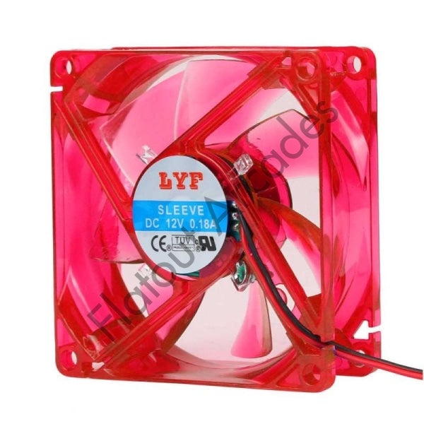 Red 80MM LED PC Cooling Fan - Flatout Arcades