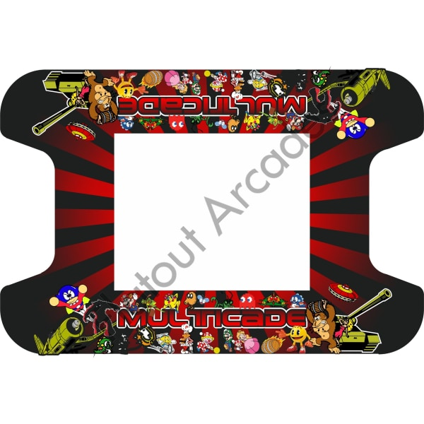 Red Retro Multi-Cade Cocktail Table Artwork - Flatout Arcades