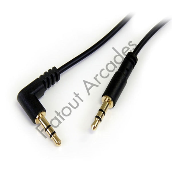 Stereo cable 3.5 mm male/male 30cm - Flatout Arcades