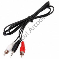 Stereo cable jack to RCA - Flatout Arcades