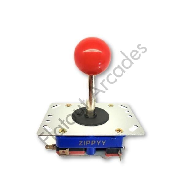 Zippyy Long Shaft Arcade Joystick With Red Ball Top Handle - Flatout Arcades