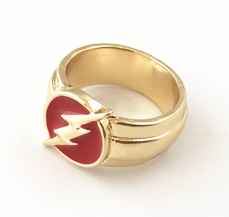 The Flash Symbol Ring - DC Marvel World