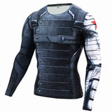 Winter Soldier Compression T Shirt - DC Marvel World