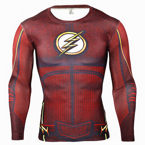 The Flash Compression Long Sleeve T Shirt - DC Marvel World