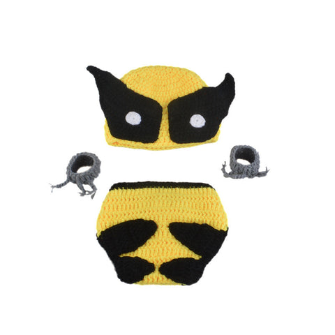 Wolverine Knitted Hat Claws and Diaper Cover - DC Marvel World