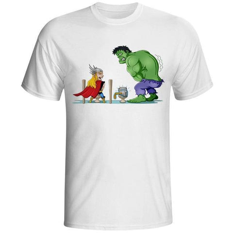 Thor vs Hulk T Shirt - DC Marvel World