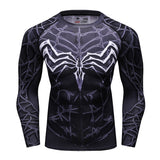 Venom Compression Long Sleeve T Shirt Black - DC Marvel World