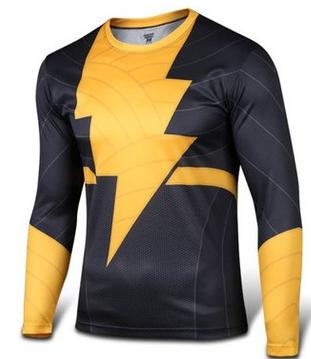 Black Adam Long Sleeve Compression T Shirt - DC Marvel World