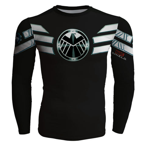 Agents of Shield Compression Long Sleeve T Shirt - DC Marvel World