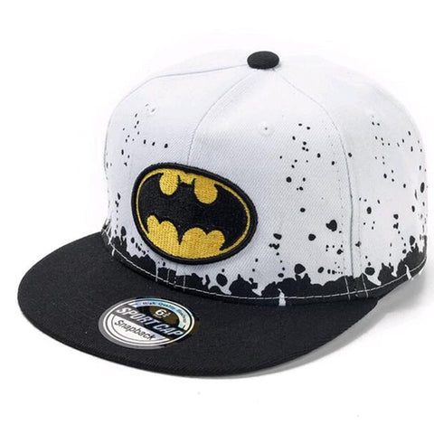 Batman 'Clean' White Snapback - DC Marvel World
