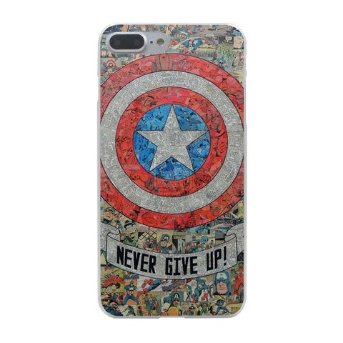 Captain America Never Give Up iPhone Case - DC Marvel World