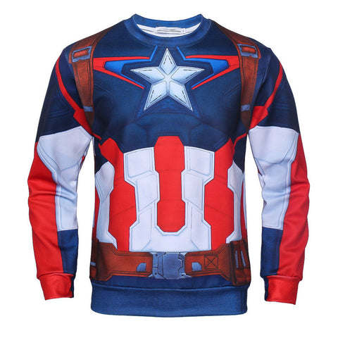 Captain America Suit Up Pullover - DC Marvel World