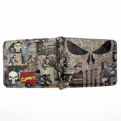 Punisher Comic Logo Bi-Fold Wallet - DC Marvel World