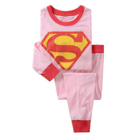 Supergirl Retro Girl's Thermal Pajama Set - DC Marvel World