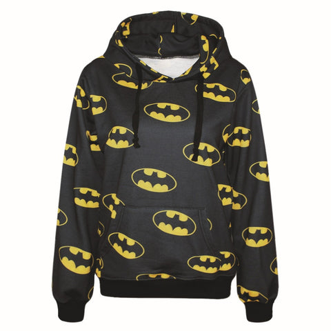 Classic Batman Logo Allover Hoodie - DC Marvel World