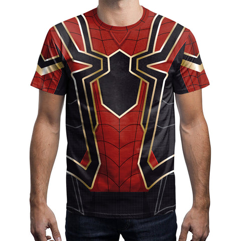 Iron Spider Spiderman T Shirt - DC Marvel World