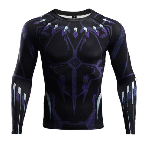 Black Panther Infinity War Long Sleeve Compression T shirt - DC Marvel World