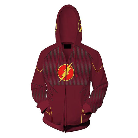 Flash Suit Zip Up Hoodie - DC Marvel World