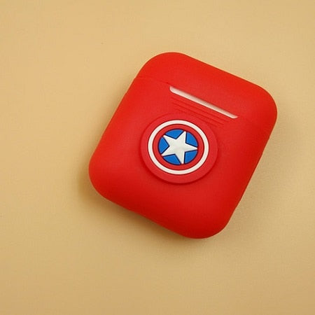 Captain America Shield Silicone Case For Apple Airpods - DC Marvel World