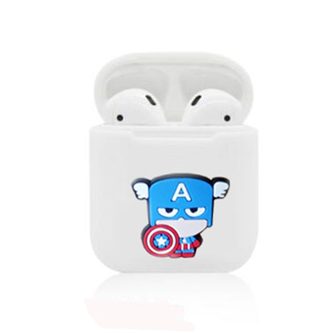 Captain America Silicone Case For Apple Airpods - DC Marvel World