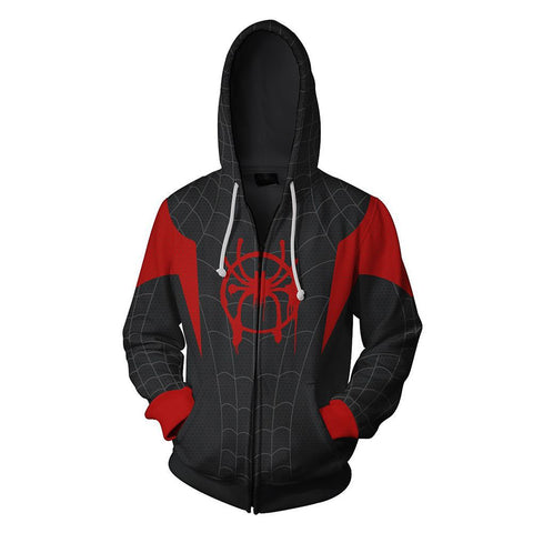 Miles Morales Spiderman Hoodie - DC Marvel World