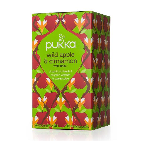Pukka Tea Wild Apple Cinnamon & Ginger Gluten Free Organic