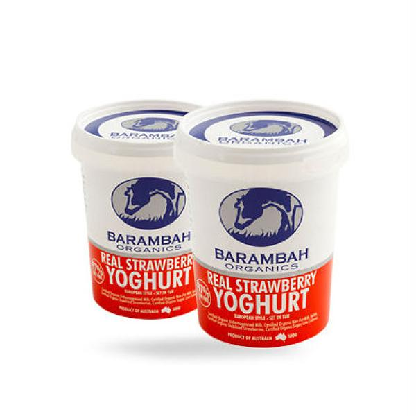 Barambah Organics Real Strawberry Yoghurt