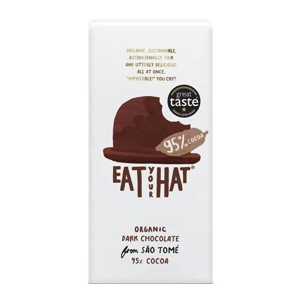 Eat Your Hat Dark Chocolate 95% Cocoa Organic
