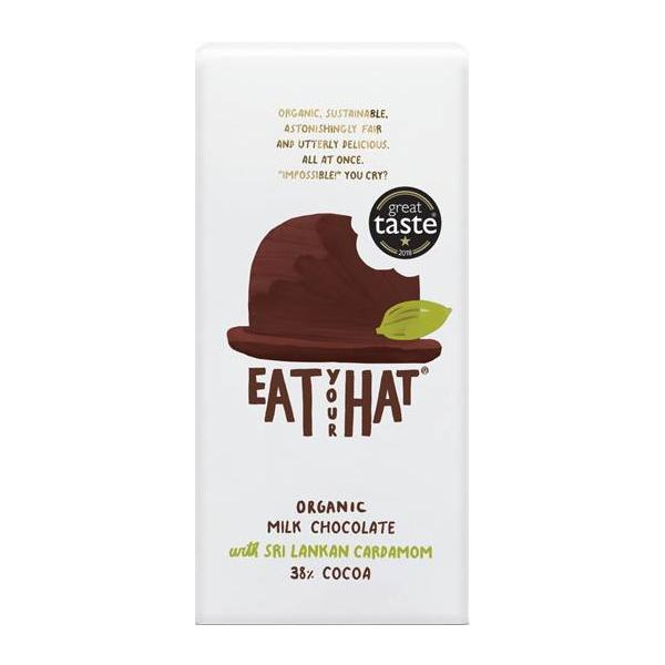 Eat Your Hat Milk Chocolate With Cardamon Organic
